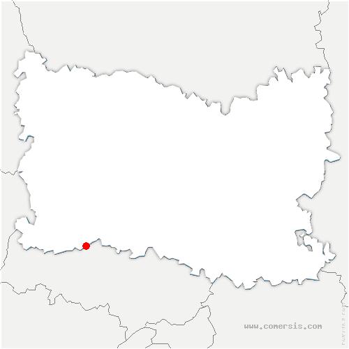 carte de localisation de Chavençon