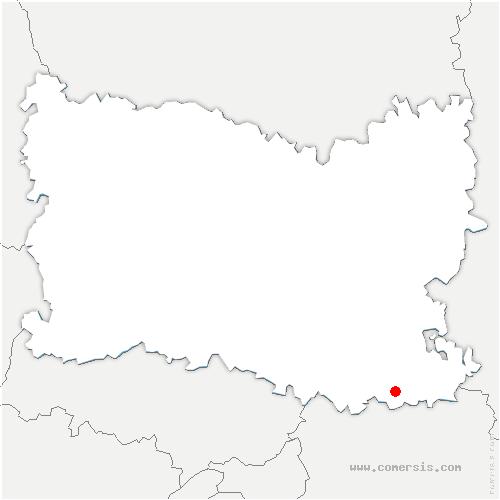 carte de localisation de Chèvreville