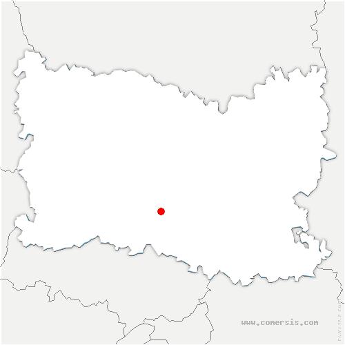 carte de localisation de Cires-lès-Mello
