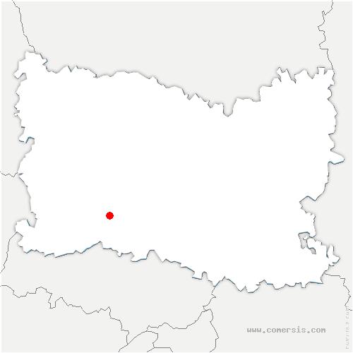 carte de localisation de Corbeil-Cerf