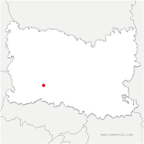 carte de localisation de Coudray-sur-Thelle