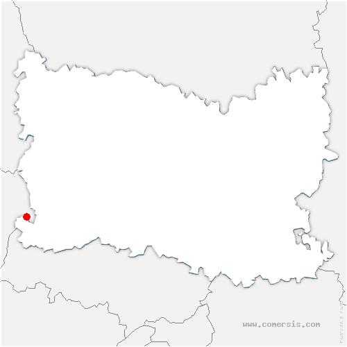 carte de localisation de Courcelles-lès-Gisors
