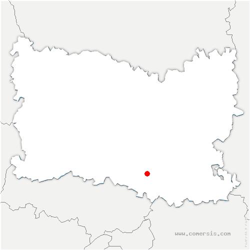 carte de localisation de Courteuil