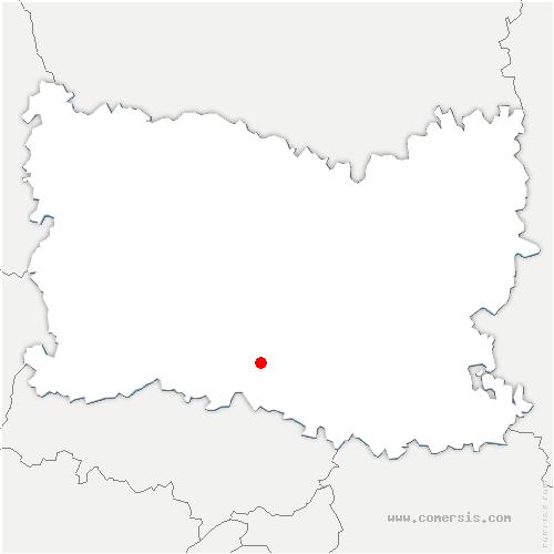 carte de localisation de Cramoisy