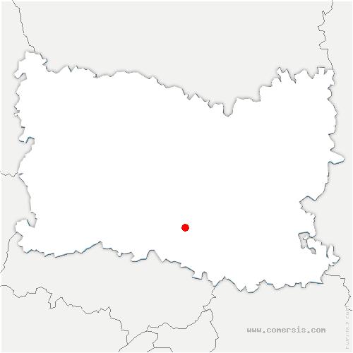 carte de localisation de Creil