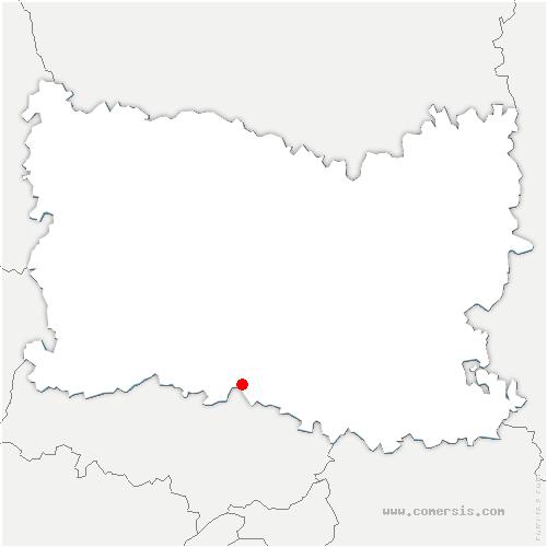 carte de localisation de Crouy-en-Thelle