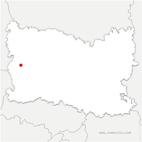 carte de localisation de Cuigy-en-Bray