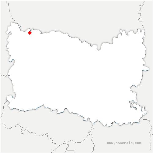 carte de localisation de Daméraucourt