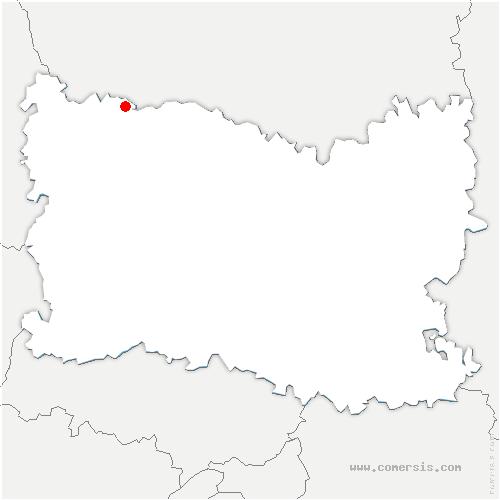 carte de localisation de Dargies