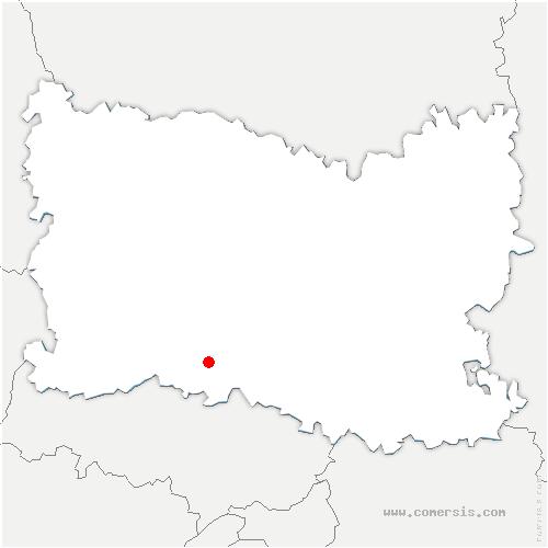 carte de localisation de Dieudonné