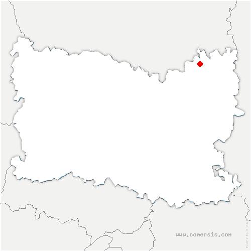 carte de localisation de Écuvilly