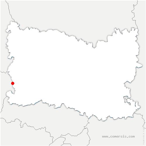 carte de localisation de Éragny-sur-Epte