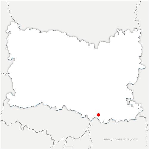 carte de localisation de Ermenonville