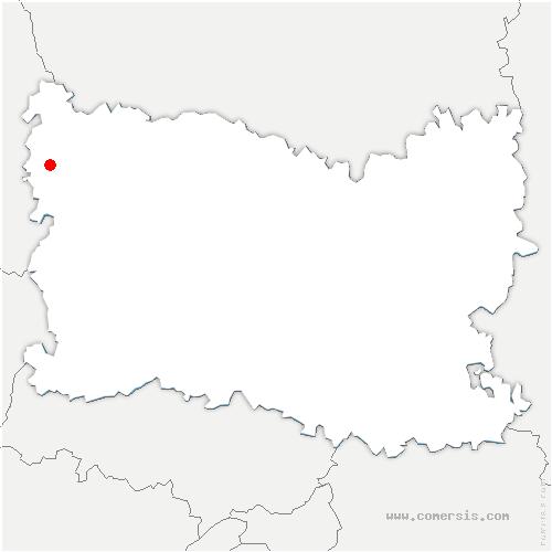 carte de localisation de Ernemont-Boutavent