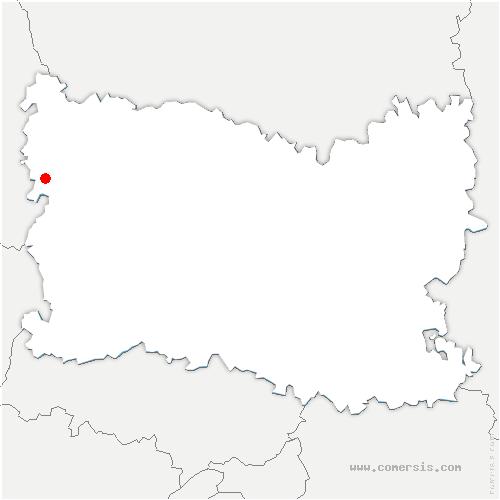 carte de localisation de Escames