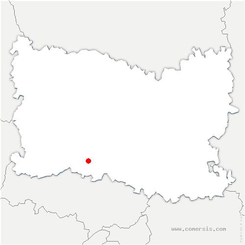 carte de localisation de Esches