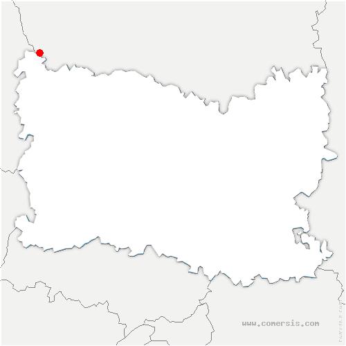 carte de localisation de Escles-Saint-Pierre