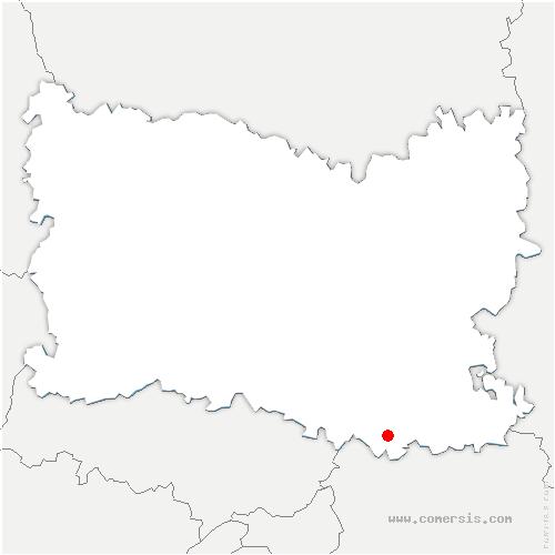 carte de localisation de Ève