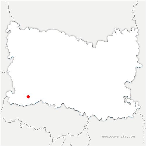 carte de localisation de Fay-les-Étangs