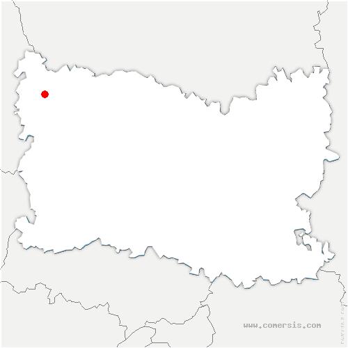 carte de localisation de Feuquières