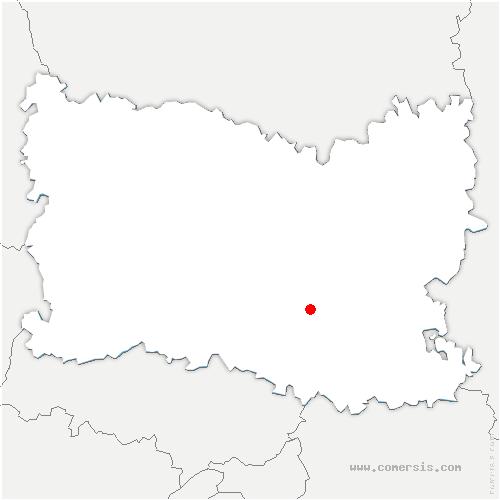carte de localisation de Fleurines