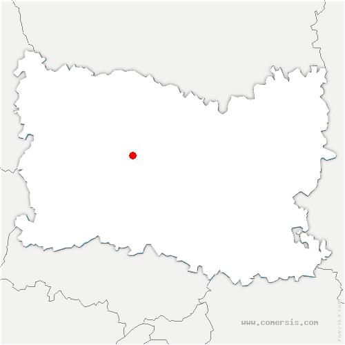 carte de localisation de Fouquerolles