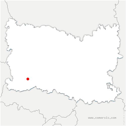 carte de localisation de Fresne-Léguillon