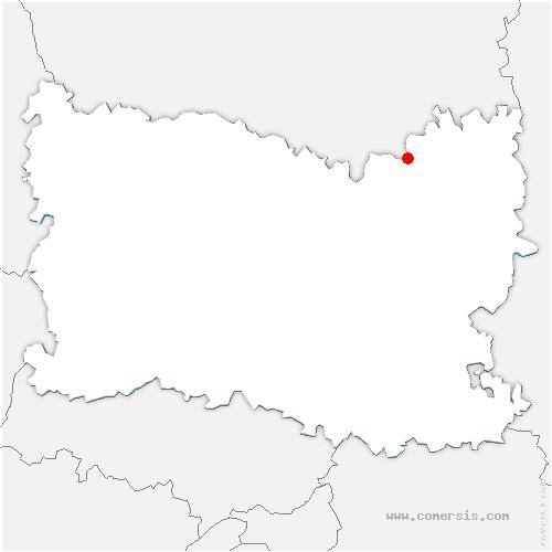 carte de localisation de Fresnières