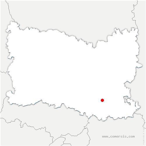 carte de localisation de Fresnoy-le-Luat