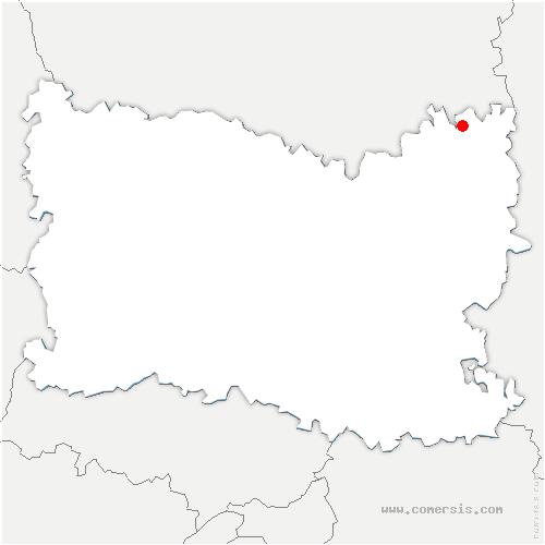 carte de localisation de Frétoy-le-Château