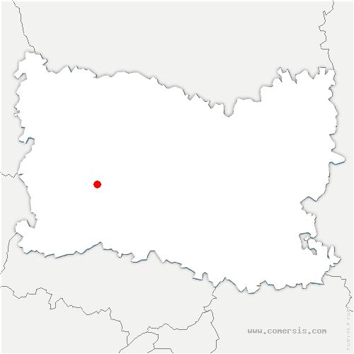 carte de localisation de Frocourt