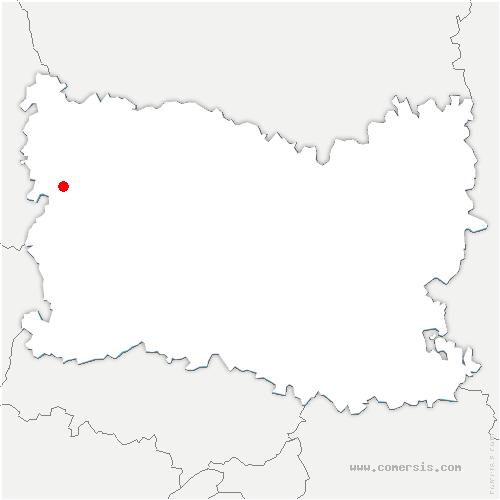 carte de localisation de Gerberoy