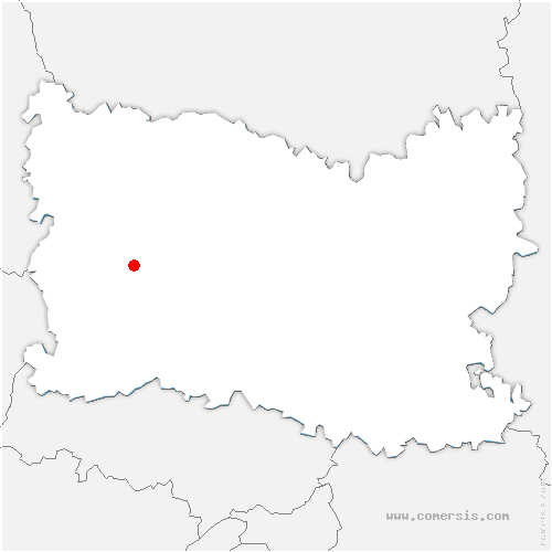 carte de localisation de Goincourt