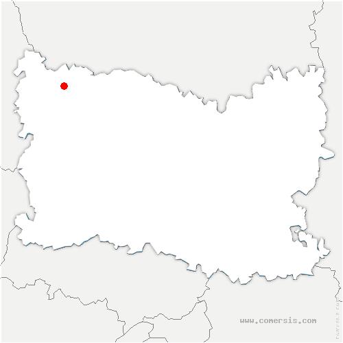 carte de localisation de Halloy