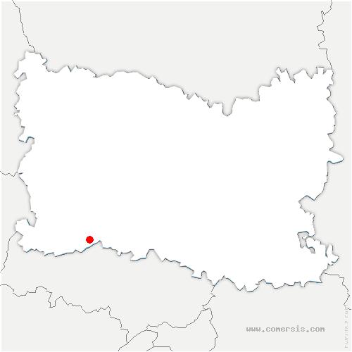 carte de localisation de Hénonville