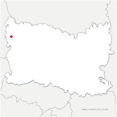 carte de localisation de Héricourt-sur-Thérain