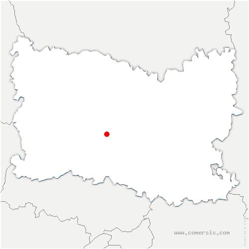 carte de localisation de Hondainville