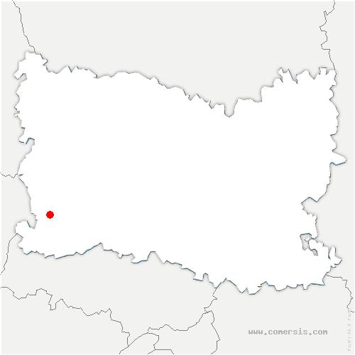 carte de localisation de Jaméricourt
