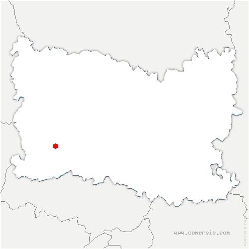 carte de localisation de Jouy-sous-Thelle