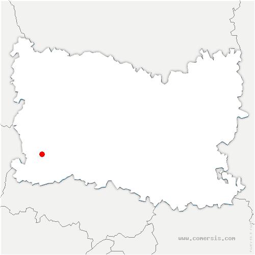carte de localisation de La Corne en Vexin