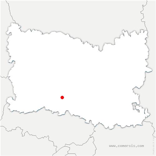 carte de localisation de Lachapelle-Saint-Pierre