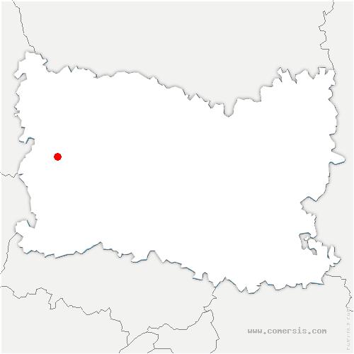 carte de localisation de Lachapelle-aux-Pots