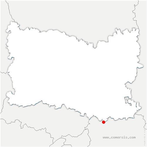 carte de localisation de Lagny-le-Sec