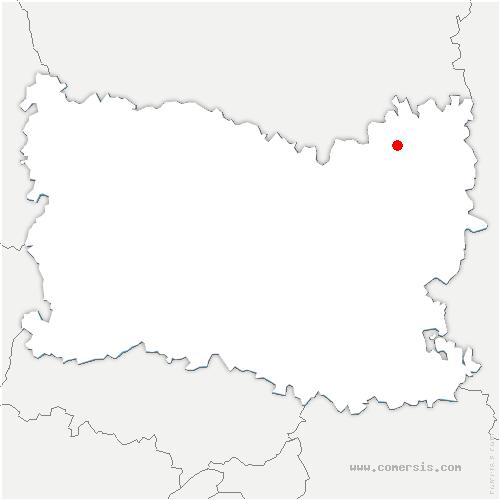 carte de localisation de Lagny