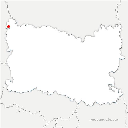 carte de localisation de Lannoy-Cuillère