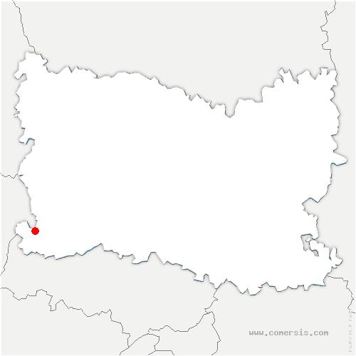 carte de localisation de Lattainville