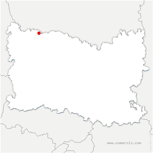 carte de localisation de Laverrière