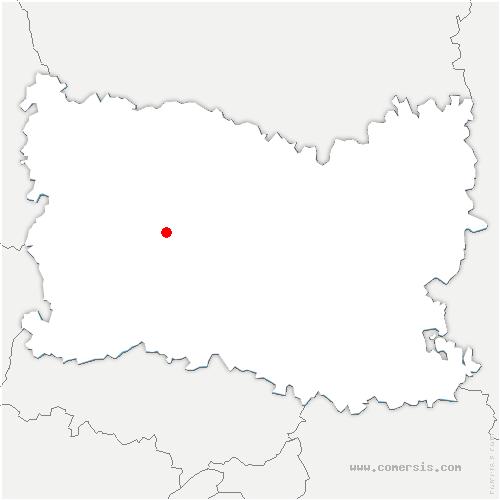 carte de localisation de Laversines