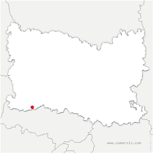 carte de localisation de Lavilletertre