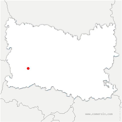 carte de localisation de Les Hauts Talican